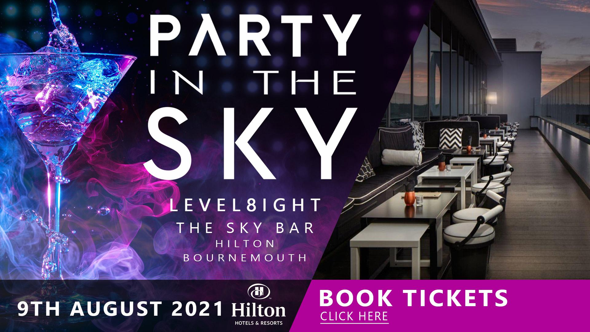 Live Event, Level8ight The Sky Bar, Hilton Hotel Bournemouth